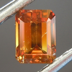 0.51ct Deep Brown-Orange SI2 Emerald Cut Diamond R6835