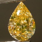 SOLD....Loose Diamond: .83ct Fancy Brownish Orangy Yellow SI1 Pear Shape Diamond GIA R6845
