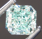 SOLD....Loose Diamond: 1.01ct Fancy Intense Blue Green SI2 Radiant Cut Diamond GIA R6893