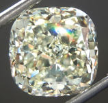 SOLD...Loose Yellow Diamond: 5.03ct W-X VS2 Cushion Modified Brilliant Diamond GIA R6914