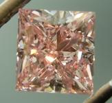 Loose Pink Diamond: .96ct Fancy Intense Purplish Pink SI2 Princess Cut Diamond GIA R6913