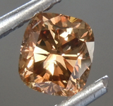 SOLD.......Loose Brown Diamond: .57ct Fancy Orange-Brown SI1 Cushion Cut Diamond GIA R6854