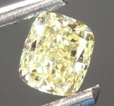 SOLD........Loose Yellow Diamond: .51ct Fancy Yellow VVS1 Cushion Cut Diamond GIA R6879
