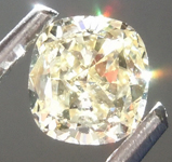 Loose Yellow Diamond: .51ct Fancy Light Yellow SI1 Cushion Modified Brilliant Diamond GIA R6884