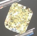 Loose Yellow Diamond: .52ct Fancy Yellow VS1 Cushion Modified Brilliant Diamond GIA R6867