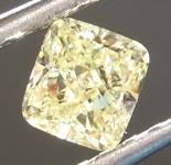Loose Yellow Diamoond: .55ct Fancy Yellow SI1 Cushion Modified Brilliant Diamond GIA R6887
