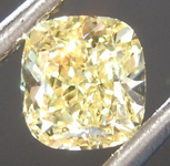 Loose Yellow Diamond: .56ct Fancy Yellow VS1 Cushion Modified Brilliant Diamond GIA R6878