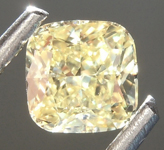 0.61ct Fancy Yellow SI1 Cushion Cut Diamond R6875