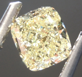 Loose Yellow Diamond: .61ct Fancy Yellow VVS2 Cushion Modified Brilliant Diamond GIA R6883