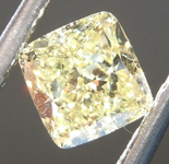 0.70ct Fancy Yellow VS2 Cushion Cut Diamond R6873