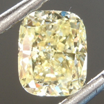 Loose Yellow Diamond: .64ct Fancy Yellow VS1 Cushion Modified Brilliant Diamond GIA R6871