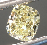 SOLD....Loose Yellow Diamond: .54ct Fancy Light Yellow VVS2 Cushion Cut Diamond GIA R6872