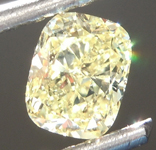 Loose Yellow Diamond: .64ct Fancy Yellow SI2 Cushion Modified Brilliant Diamond GIA R6881
