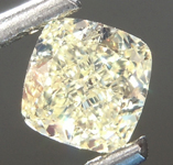 SOLD....Loose Yellow Diamond: .50ct Fancy Yellow Internally Flawless Cushion Cut Diamond GIA R6868