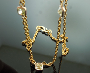 SOLD....Diamond Necklace: 1.48ctw Natural Yellow Radiant Cut Diamond Necklace R5471