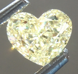 Loose Yellow Diamond: .50ct Fancy Light Yellow VS1 Heart Shape Diamond GIA R6900