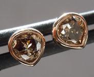 Brown Diamond Earrings: .60ctw Fancy Yellow Brown SI Pear Shape Diamond Earrings R6831