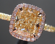 Diamond Ring: 2.21ct S-T VS2 Cushion Modified Brilliant Pink Lemonade™ Diamond Ring GIA R6753