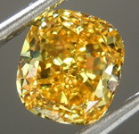 SOLD.....Loose Diamond: 1.79ct Fancy Vivid Orangy Yellow IF Cushion Modified Brilliant Diamond GIA R6955