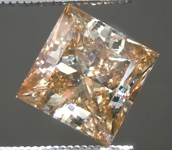 1.28ct Yellow Brown I1 Princess Cut Diamond R6982