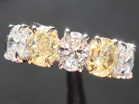SOLD.....Diamond Ring: 1.68ctw Yellow and Colorless Oval Five Stone Diamond Ring R6599