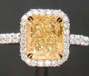 Yellow Diamond Ring: 1.81ct W-X VVS2 Radiant Cut Diamond Ring GIA R6787