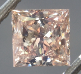 Loose Brown Diamond: .76ct Fancy Light Yellowish Brown SI1 Princess Cut Diamond GIA R6980