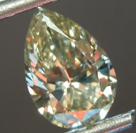 Loose Diamond: .71ct Fancy Light Brownish Greenish Yellow VS2 Pear Brilliant Diamond GIA R6846