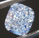 SOLD.....Loose Blue Diamond: 1.22ct Light Blue SI1 Cushion Cut Diamond GIA R7003