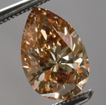 Loose Brown Diamond: 1.11ct Fancy Dark Orangy Brown SI2 Pear Brilliant Diamond GIA R6981
