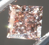 Loose Brown Diamond: .45ct Fancy Pink Brown VS1 Princess Cut Diamond GIA R6984