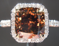 SOLD.....Brown Diamond Ring: 2.64ct Fancy Dark Orangy Brown Cushion Cut Diamond Ring R6977