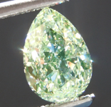 SOLD....Loose Green Diamond: 1.01ct Fancy Light Yellow-Green SI1 Pear Shape Diamond GIA R7024