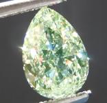 SOLD....Loose Green Diamond: 1.01ct Fancy Light Yellow-Green SI1 Pear Shape Diamond GIA R7024