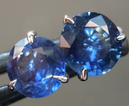 SOLD.......Sapphire Earrings: 1.96ctw Blue Round Brilliant Sapphire Earrings R6806