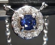 0.26ct Blue Round Brilliant Sapphire Necklace R6791
