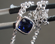 0.80ct Blue Cushion Cut Sapphire Necklace R6673