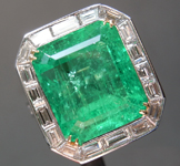 Emerald Ring: 10.37ct Emerald Cut Colombian Emerald and Diamond Ring GIA R6719