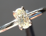 SOLD.......Yellow Diamond Ring: .41ct Fancy Light Yellow VS1 Oval Diamond Ring R6963