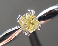 Yellow Diamond Ring: .31ct Fancy Yellow SI2 Cushion Cut Diamond Ring R6970