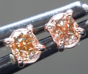 SOLD...Brown Diamond Earrings: .27ctw Fancy Orangy Brown SI2 Oval Diamond Earrings R7010