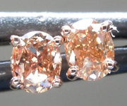 SOLD...Brown Diamond Earrings: .46ctw Fancy Orangy Brown SI1 Oval Diamond Earrings R7007