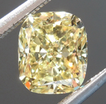 SOLD....Loose Yellow Diamond: 1.07ct Fancy Yellow VS1 Cushion Modified Brilliant Diamond GIA R7039