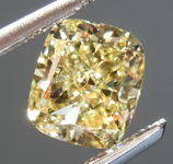 SOLD.....Loose Yellow Diamond: 1.11ct Fancy Yellow VVS2 Cushion Modified Brilliant Diamond GIA R7040