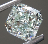 SOLD.... Loose Green Diamond: .83ct Fancy Light Yellow Green I1 Radiant Cut Diamond GIA R7047
