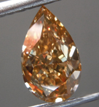 Loose Brown Diamond: 1.40ct Fancy Yellow-Brown SI1 Pear Modified Brilliant Diamond GIA R7070