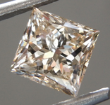 Loose Brown Diamond: 1.04ct U-V. Light Brown I1 Princess Cut Diamond GIA R7071