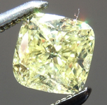 Loose Yellow Diamond: .62ct Fancy Yellow I1 Cushion Cut Diamond GIA R6594