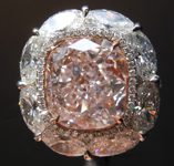 Pink Diamond Ring: 6.08ct Light Pink VVS1 Cushion Modified Brilliant Diamond Halo Ring GIA R7087