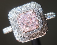 0.72ct Pinkish Purple SI1 Radiant Cut Diamond Ring R1342